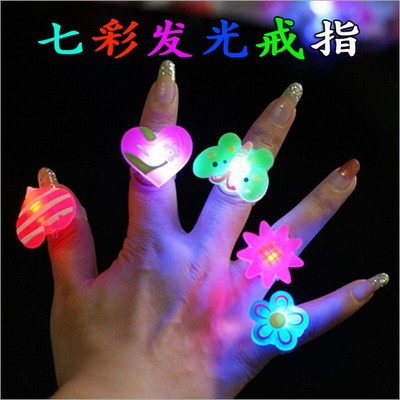 drop shipping party led light finger ring,flash finger ring,lovely finger ring,50pcs/lot(China (Mainland))
