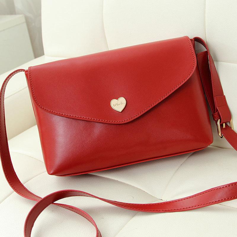 Hot Sale Heart Women Leather Handbags Cross Body Shoulder Bags Fashion Messenger Bags Fashion Women Bag(China (Mainland))