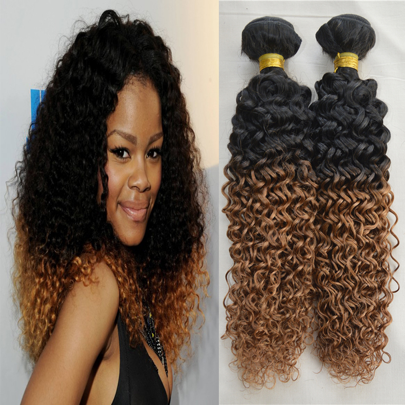 Curly Remy Hair Weft 30