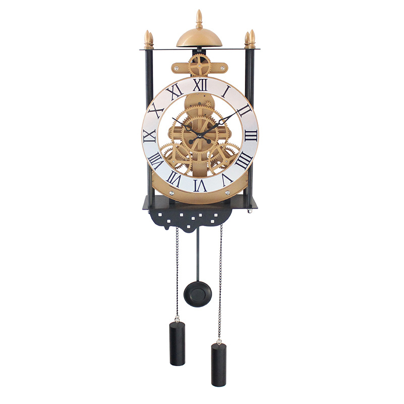 New Bird Cage Model Gear Pendulum Clock Fashion Creative Wall Clocks Hanging Pendulum European Style Living Room(China (Mainland))
