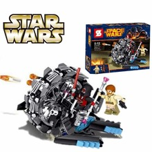 27STAR WARS Obi-Wan Kenobi Wheel Bike Lightsaber Set Jedi Clone Building Blocks Minifigure Toy Compatible Lego 75040 - Top Seller store