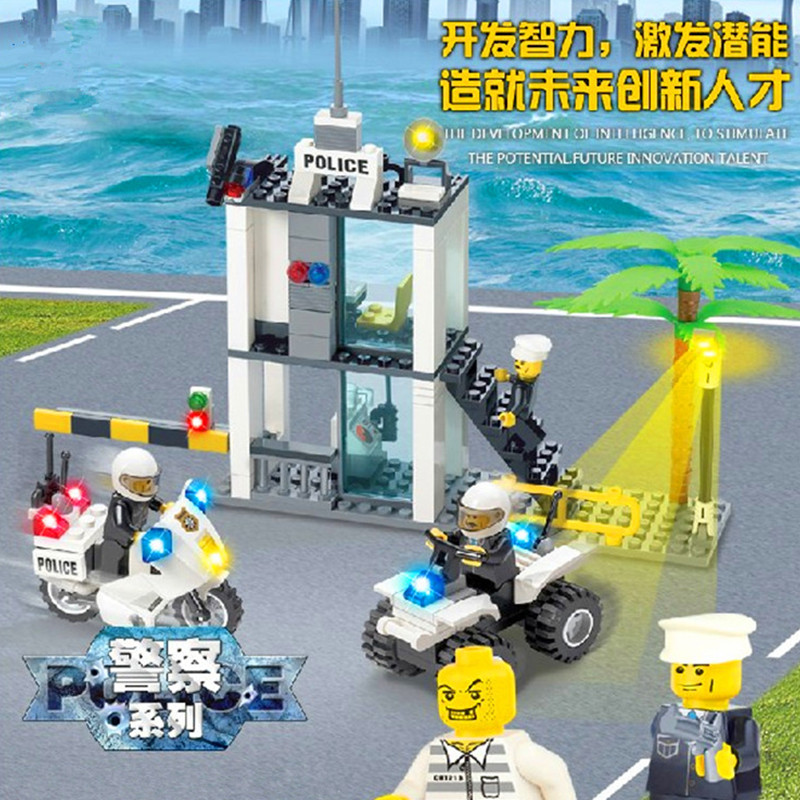 2016 New Police Station Building Blocks Compatible With LEGO Police Toys High Quality Educational Bricks Kids Birthday Gift(China (Mainland))