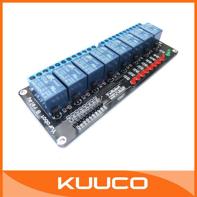 5V 8 Relay Extension MCU Development Board for 51 AVR PIC, Power Relay, Relay, AC250V 10A DC30V 10A #090274