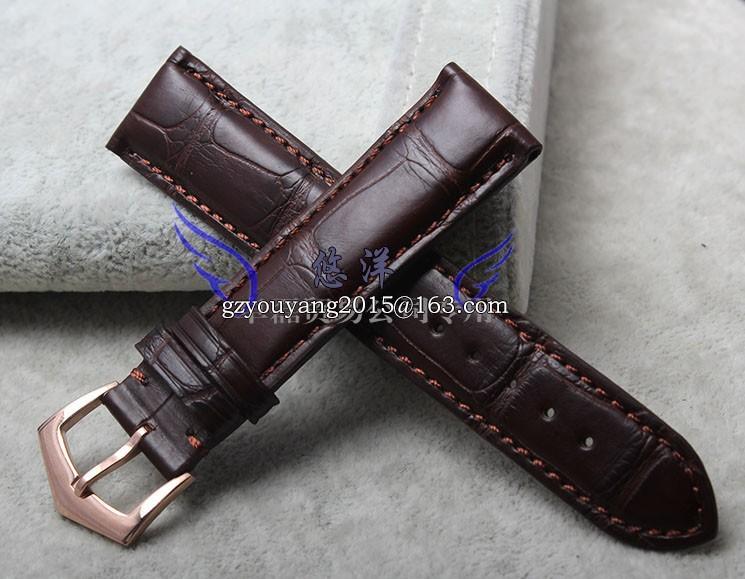 Крокодил кожаный ремешок адаптер супер 20 мм темно-коричневый сложные функции своевременно