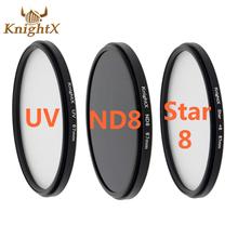 KnightX 52 58 67MM UV ND8 star 8 Lens ND Filter Kit set for nikon Canon