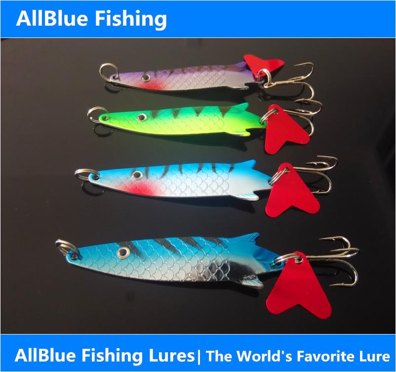 Allblue fishing lure 13g mixed spoon bait metal lake lure for Lake lure fishing