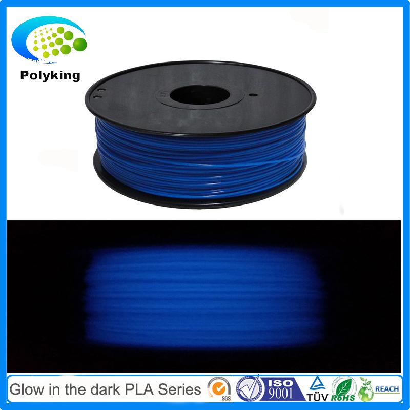 glow in the dark blue 3D Printer Filament PLA filament 1 75mm 3mm 32 colors 1kg