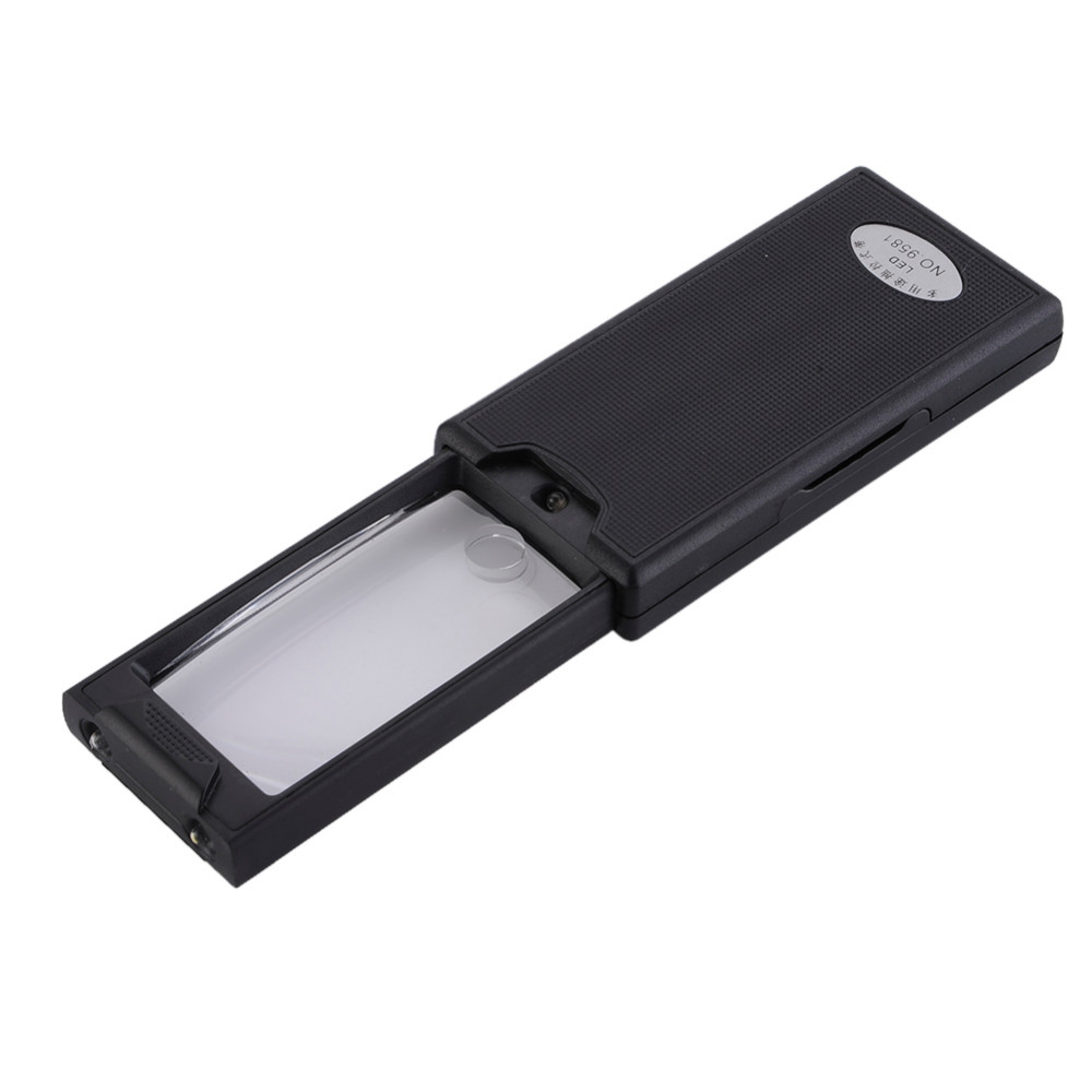 Portable 2.5x 45x Pullout Illuminated 3LED Magnifying Glass Jeweler Eye Loupe Magnifier Excellent Quality
