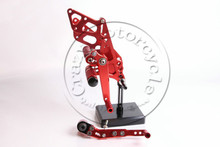 Rearsets CNC Adjustable Rear set Foot pegs SUZUKI K9 GSXR1000 2009-2014 red 2010 2011 2012 2013 - Motorcycle part home store