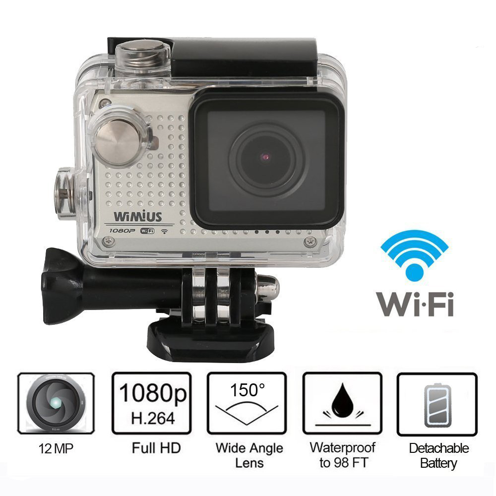 1080P HD Wifi Sports Action Camera 30M Waterproof 12MP Helmet Camera with Free Accessories Kit Sliver<br><br>Aliexpress