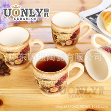 Direct new European-style ceramic coffee cup beautiful and elegant and luxurious styling with a butterfly hob a generation of fa