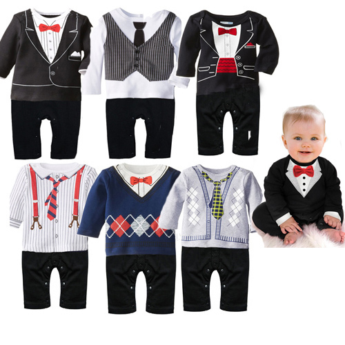 2015 new newborn baby rompers clothing baby boys clothes tie gentleman bow leisure toddler one-pieces jumpsuit(China (Mainland))