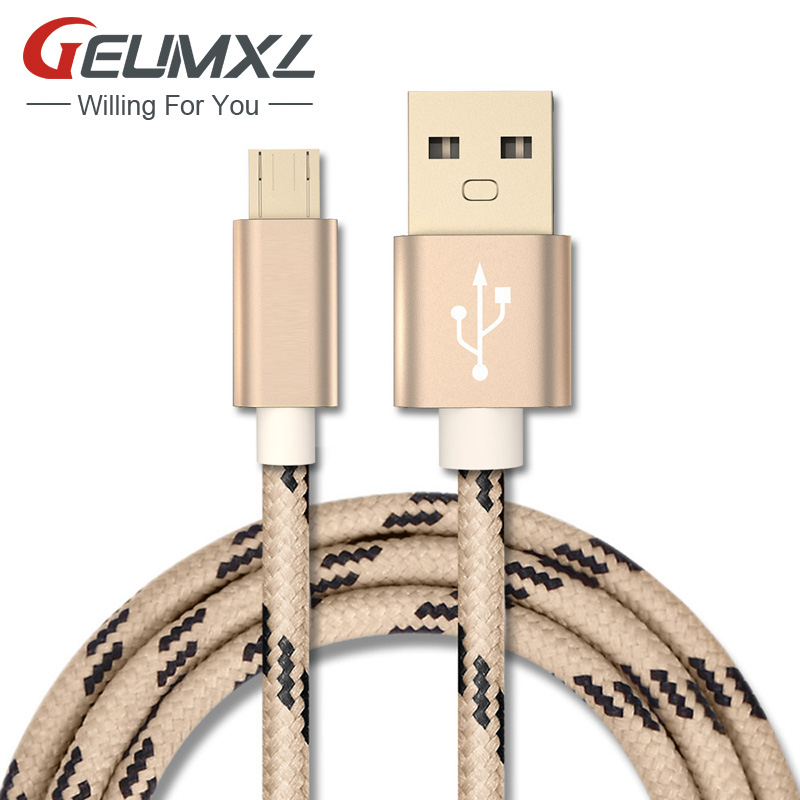 Micro USB Cable with Metal shell Gold-plated Connector Braided wire for Samsung / Sony / Xiaomi / Huawei Android devices(China (Mainland))