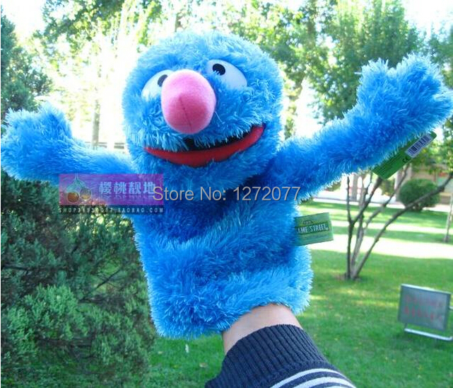 Sesame Street Hand Puppet Baby Plush Toy, Dark Blue Color Free Shipping(China (Mainland))