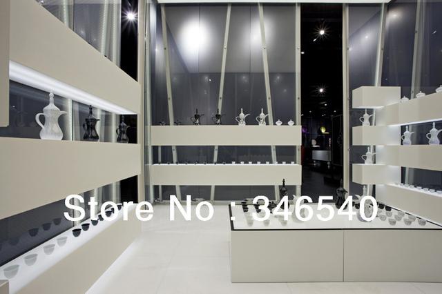 Artworks store interior furniture display,MDF baking glossy paint finish,custom-made,FUNROAD