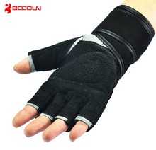 2014 hot sale Weight Lifting Gym Gloves Training Fitness bodybuilding Workout Wrist Wrap Exercise Glove Free