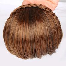 kk 004372 Women Braid Wig Bangs Headband Hair Bands Fashion Hair Accessories can choose(China (Mainland))