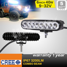FREE SHIPPING! 6.5INCH 9-32V 40W CREE LED LIGHT BAR COMBO BEAM FOR OFFROAD 4x4 TRUCK ATV REVERSE LIGHT SECKILL 18W/27W(China (Mainland))