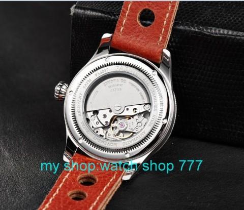 42 мм Парнис Сапфировое стекло Циферблат Автоматическая Самостоятельно Ветер Движение мужские Часы Высокого качества 2016 новая мода Оптовая часы