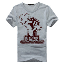 Killing in the name RAGE AGAINST THE MACHINE ratm gray and white t shirt high quality soft comfortable modal cotton