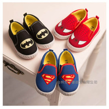 Baby Shoes Superman Supergirl Batman Slip-on Sneakers Toddlers Soft Sole First Walkers Boys Girls Footwear Drop Free Shipping(China (Mainland))