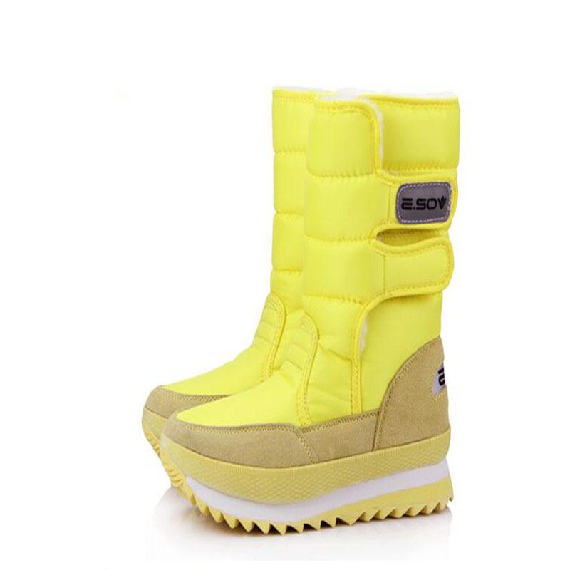 Гаджет  Plus size 35-42 women boots shoes woman Non-slip windproof rain boots Leisure Various color winter Snow Boots 7color None Обувь