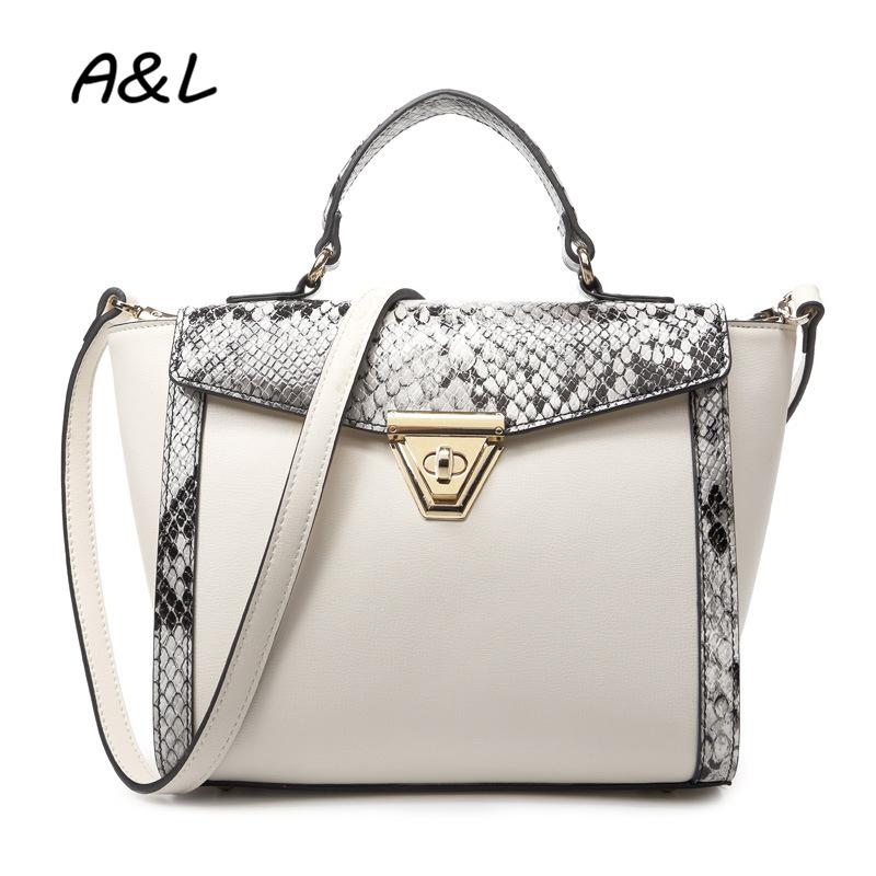 2016 Fashion Women Bag Woman Shoulder Bags Messenger Bags Leather Handbags Luxury Designer Snakeskin Pattern Totes Bolsos A0199(China (Mainland))