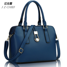 JZ CHIEF fashion business women Messenger Bags high quality office bag double zipper crossboday bag PU leather shoulder bags(China (Mainland))