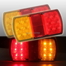 2 X 12V 12 LED Rear Stop Tail Light For Trailer Truck Caravan Boat Car 150*80*23MM(China (Mainland))