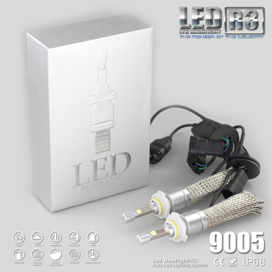 Фотография high power 80w 9600lm per set 6000k 9005 car led headlight bulb for car
