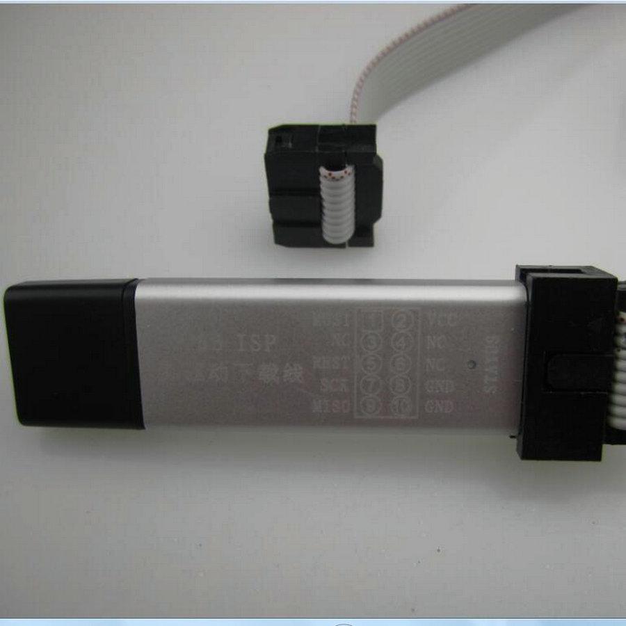 FREE SHIPPING 5LOT New USBASP USBISP AVR Programmer USB ATMEGA8 ATMEGA128 Support Win7 64K 30365(China (Mainland))