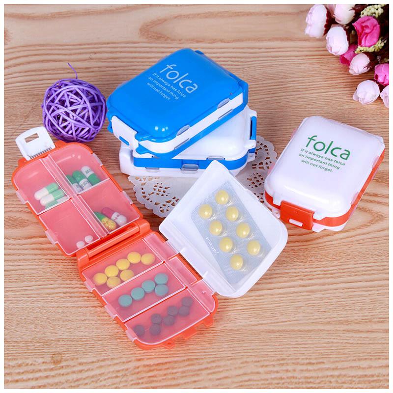 New Weekly Sort Folding Vitamin Medicine Pill Box Makeup Storage Case Container #ZH065(China (Mainland))