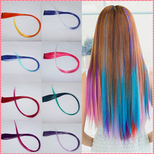 hair extensions 2016 New Arrive fashion women's Long Synthetic Clip In Extensions Gradient Color cosplay hair pieces #JO009(China (Mainland))