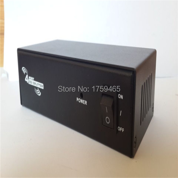 4 Port SDI 1x4 Powered Amplifier Splitter 1 in SDI HD lossless signal distribution to 4 output SDI 1 in 4 out SDI Splitter(China (Mainland))