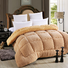 Quilts cotton patchwork duvets Australian lambs wool Warm comforter camel quilt Thicken warm duvets winter comforter patchwork(China (Mainland))
