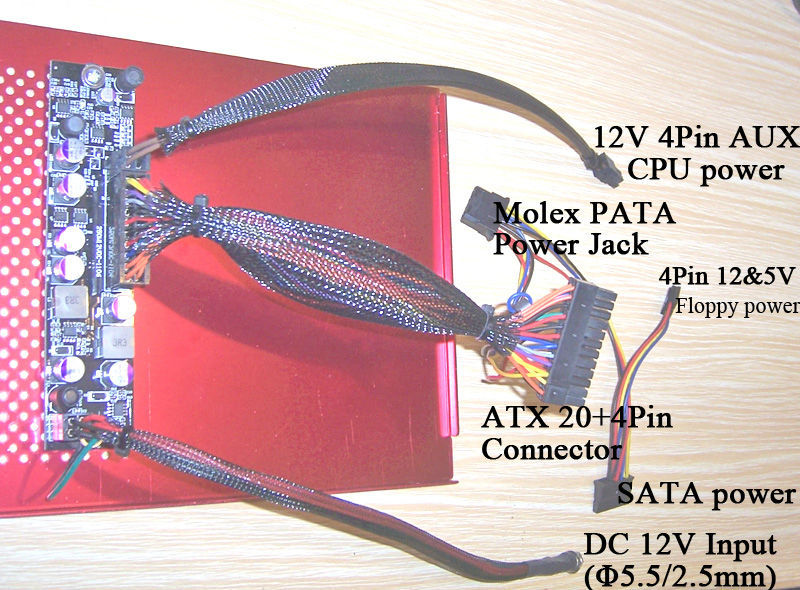 250W DC-DC 12V Mini ITX Power Supply | ATOM HTPC CAR AUTO ITX PC mini pico mico ATX PSU Mini ITX Power Supplies(China (Mainland))