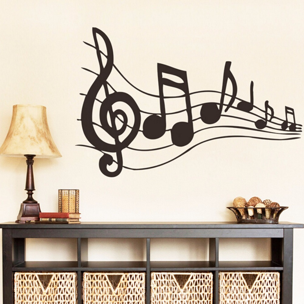Wall Decor Music Theme : Music sticker is my life theme bedroom decor