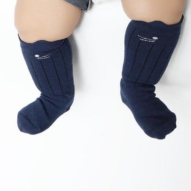 Милый кот дизайн противоскользящие новорожденных колено носки девушки дети гетры