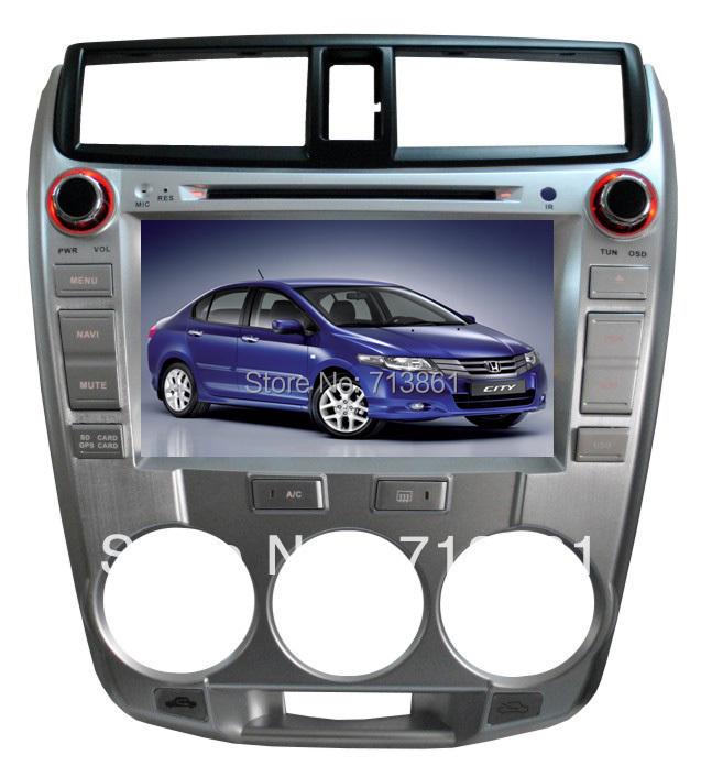 8'' for Honda City 1.5L 2008 2010 car dvd player with GPS navigation,Ipod,raido,analog TV,free map,wince6.0,Russian language(China (Mainland))