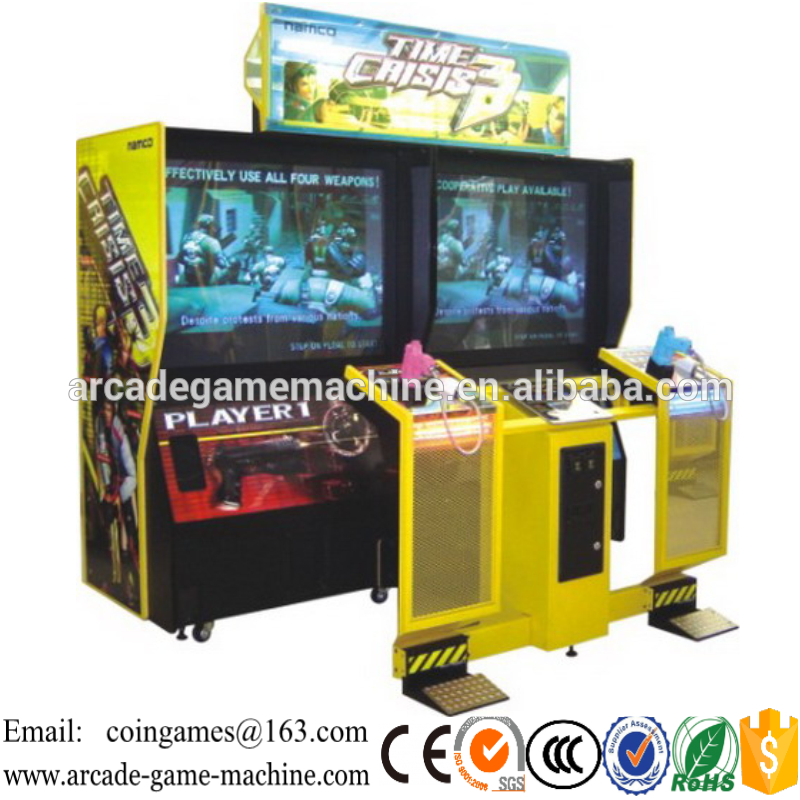 Screen 42 inch Indoor Amusement Center Equipment Time crisis 3 Arcade Coin Operated Simulator Shooting Gun Video Games Machine(China (Mainland))