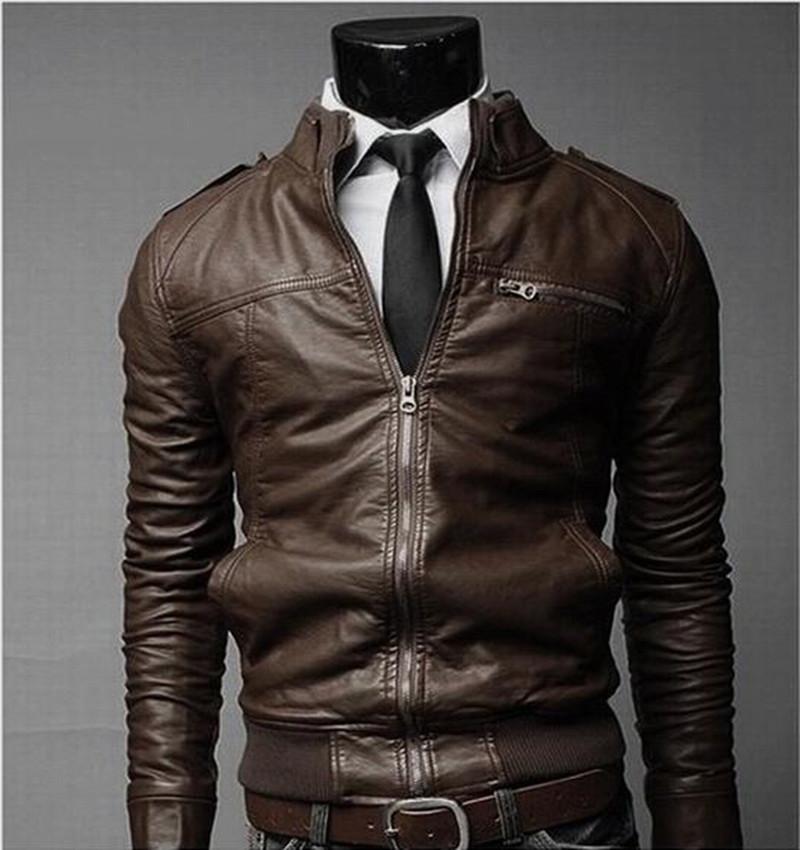 Winter Jacket Motorcycle Men pu Leather Jacket And Coats 2015 Winter new Korean Slim men's pu leather jacket(China (Mainland))