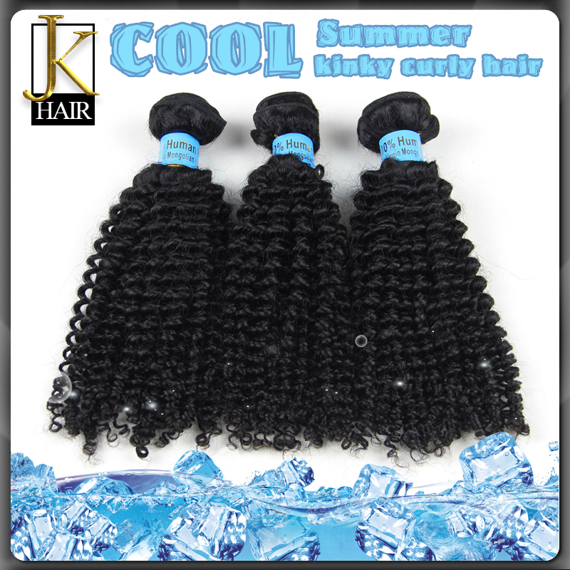 2015 New Hair Mongolian kinky curly hair 7A grade high quality unprocessed kinky curly virgin hair 3pcs lot(China (Mainland))