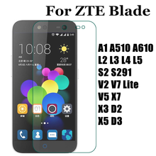Tempered Glass Screen Protector ZTE Blade A1 A510 A610 L2 L3 L4 L5 S2 S291 V7 Lite V5 D2 D3 X3 X5 X7 Cover Case Film - Togood Outlet Store store