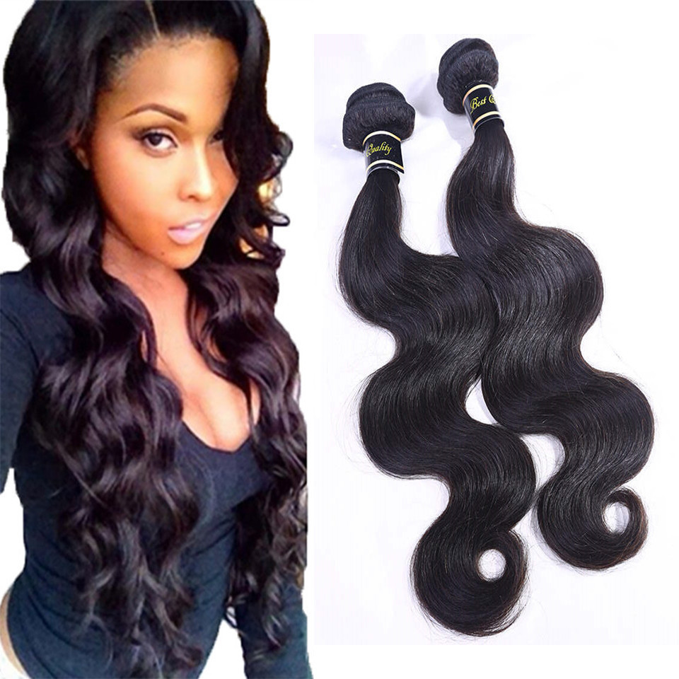 Indian virgin hair body wave real human hair extensions 8-30 inch 1pc unprocessed Indian remy hair weave soft natural black hair