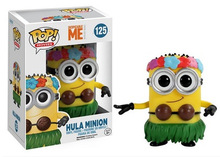 Funko Pop NO.125 Despicable Me Minions Hula Anime Figures 9cm