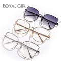 ROYAL GIRL New brand designer Women eyeglasses frames Vintage retro oversized metal Optical Frames clear lens