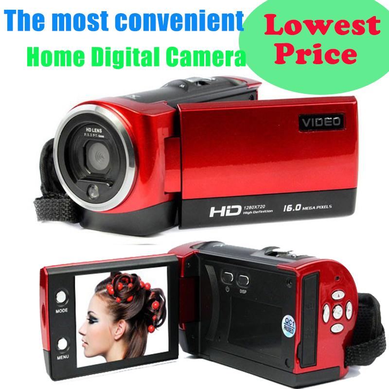 16MP HD 720P Digital Camera 2.7 TFT Screen Photo Camera 16x Digital Zoom Digital Cameras Video Recorder Mini Camcorders(China (Mainland))