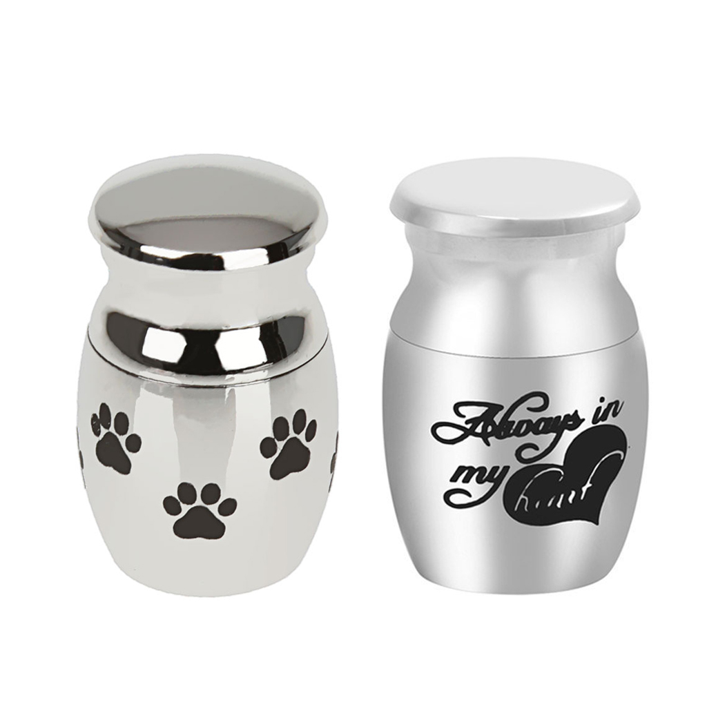 2 Pieces Mini Keepsake Urn Miniature Funeral Cremation Urn Pet Ashes Holder