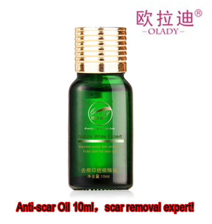 Anti-scar oil 10ml, scar removing essential oil, helps remove all kinds of scars caused by acne,pimple,burns,scalds,surgery,etc.(China (Mainland))