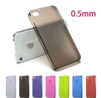 0.5mm Dull polish Case For iphone 4 4S Ultra-thin Case  protective case cell phone case hot sale